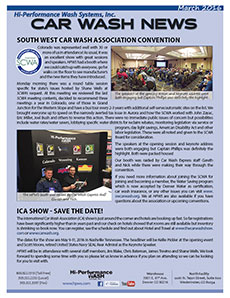 Southwest Carwash association convention, ICA convention