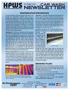 Winterization preparation, drum recycling